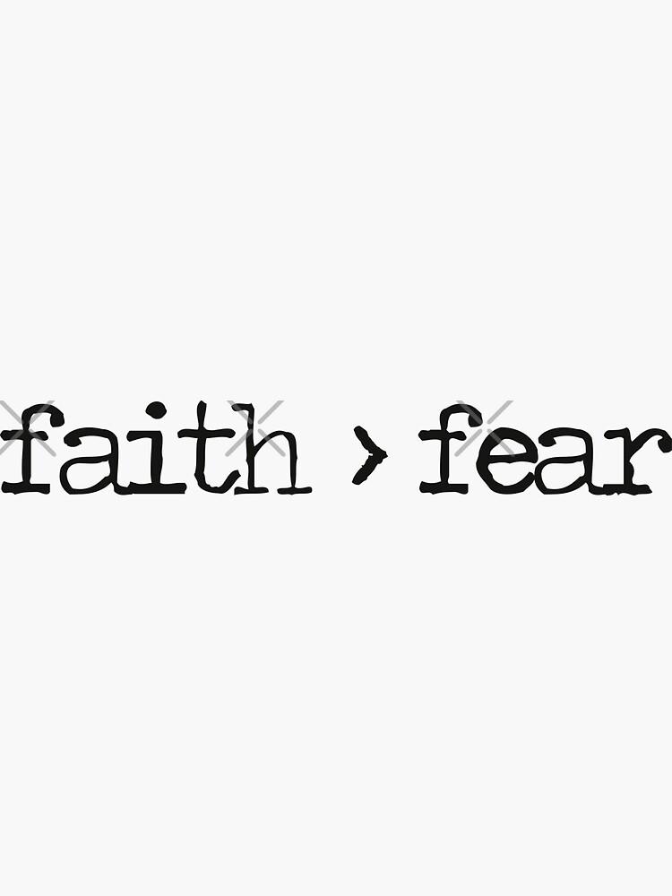 La fe es mayor que el miedo de WordsFromHeaven