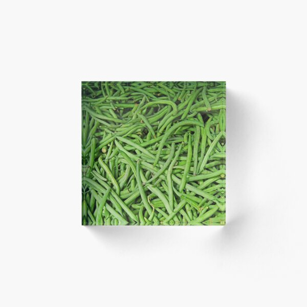 Green Beans Acrylic Block