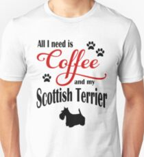 Coffee and my Scottish Terrier Unisex T-Shirt
