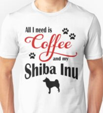 Coffee and my Shiba Inu T-Shirt