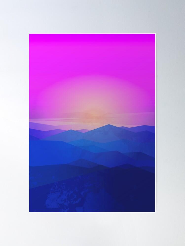 Alternate view of Australia mountains Poster