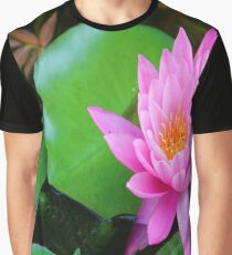 Pink waterlily Graphic T-Shirt