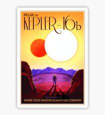 Nasa Travel Poster-Kepler-16b Sticker