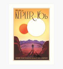 Nasa Travel Poster-Kepler-16b Art Print