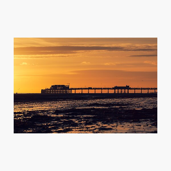 Worthing Pier at sunset Photographic Print