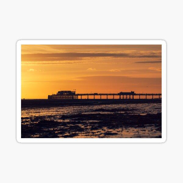 Worthing Pier at sunset Sticker