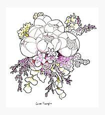 Pastel Bouquet Photographic Print