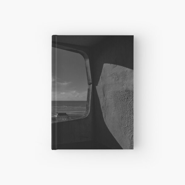 Black and white view overlooking Worthing Seafront. Hardcover Journal