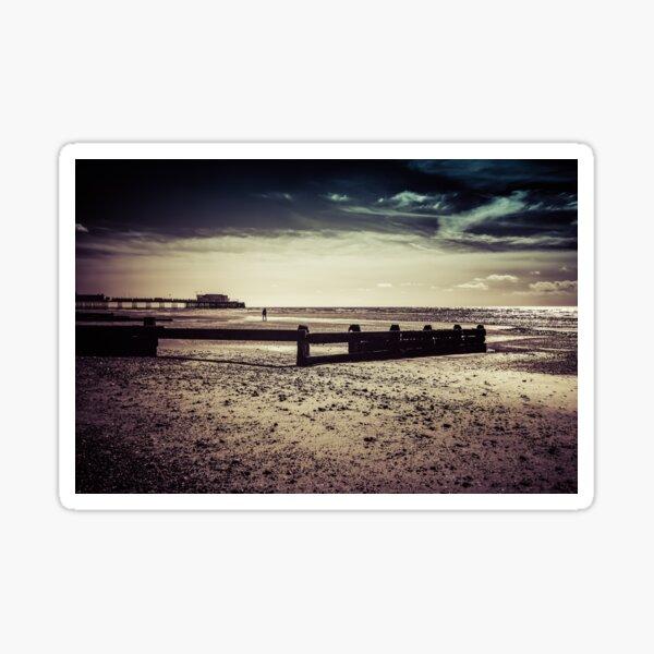 seaside walk Sticker