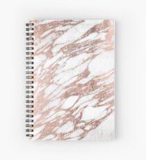 Schickes elegantes Weiß und Rosen-Goldmarmor-Muster Spiralblock
