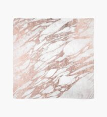 Chic Elegant White and Rose Gold Marble Pattern Scarf