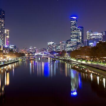 Iconic Melbourne: The Yarra River by Night by andiemeganb