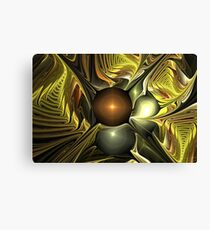 Gold Layer Leaves Canvas Print
