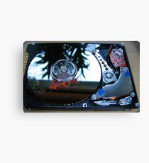 Hard drive macro Canvas Print