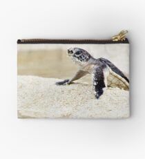 Baby green sea turtle Studio Pouch