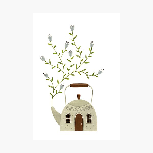 Blooming kettle house Photographic Print