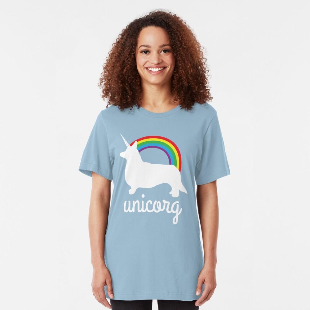 Funny Unicorg Slim Fit T-Shirt
