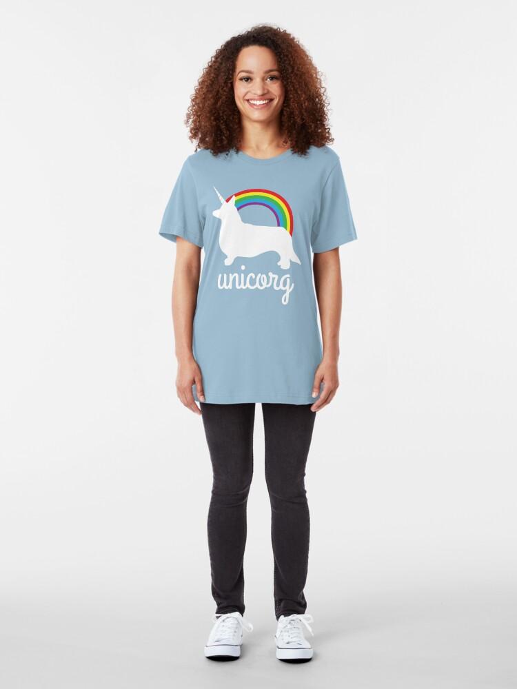 Alternate view of Funny Unicorg Slim Fit T-Shirt