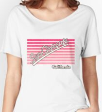 San Clemente, California | Surf Stripes Women's Relaxed Fit T-Shirt