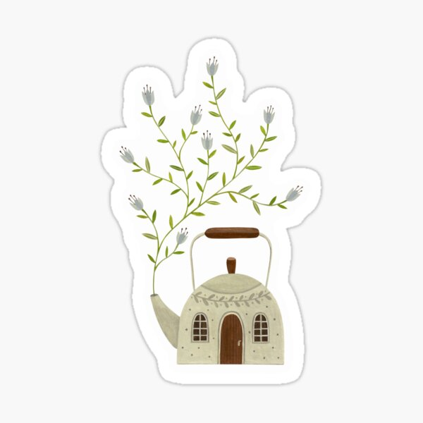 Blooming kettle house Sticker