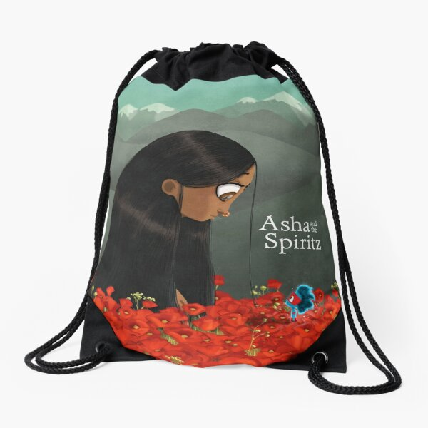 Asha and the Spiritz - Meeting Bhayankara Drawstring Bag