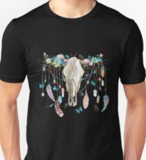 Butterfly Cow Skull Spirit Gazer T-Shirt