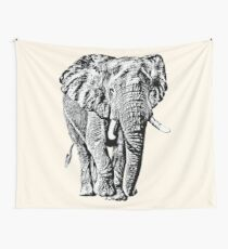 Bull Elephant Front-on View | African Wildlife Wall Tapestry