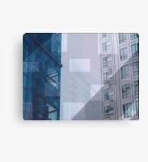 Backend town Canvas Print