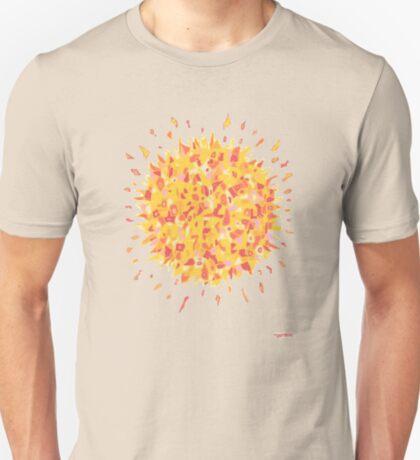 1709 - Burning Sun In Yellow T-Shirt