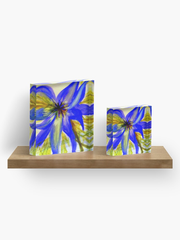 Alternate view of Love in a Mist Acrylic Block