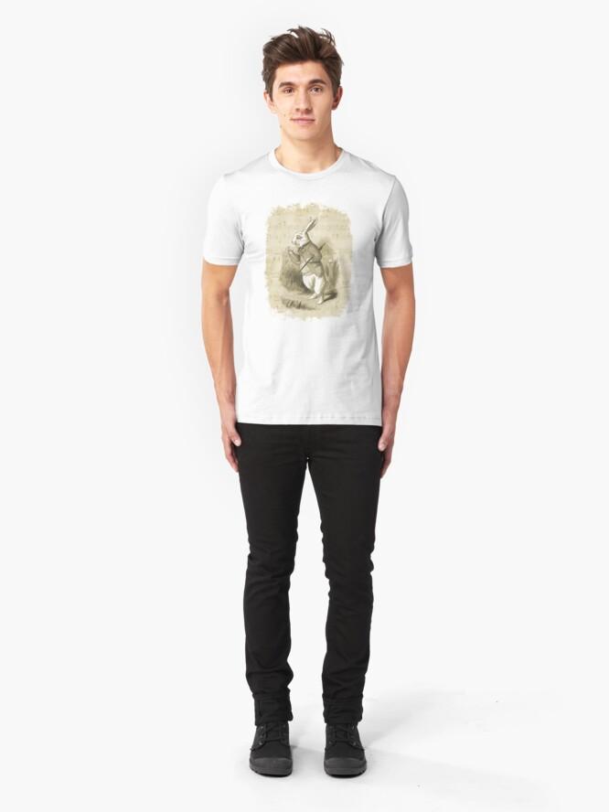 Vista alternativa de Camiseta ajustada Conejo blanco - Alicia en el país de las maravillas