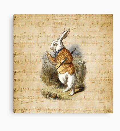 Conejo blanco - Alicia en el país de las maravillas Lienzo
