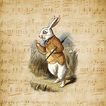 Weißes Kaninchen - Alice im Wunderland von maryedenoa
