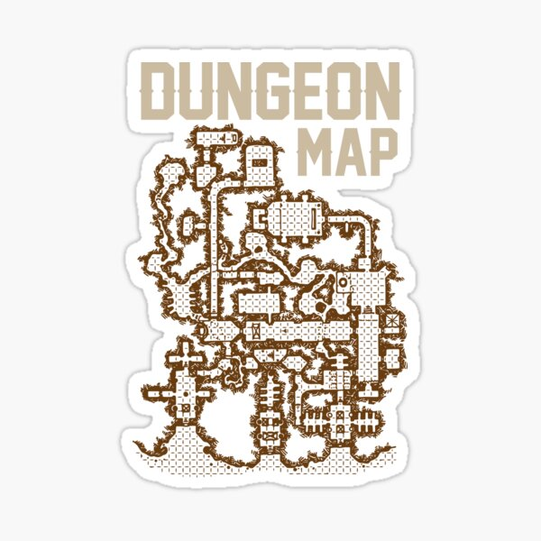 Dungeon Roleplaying T-Shirt Sticker