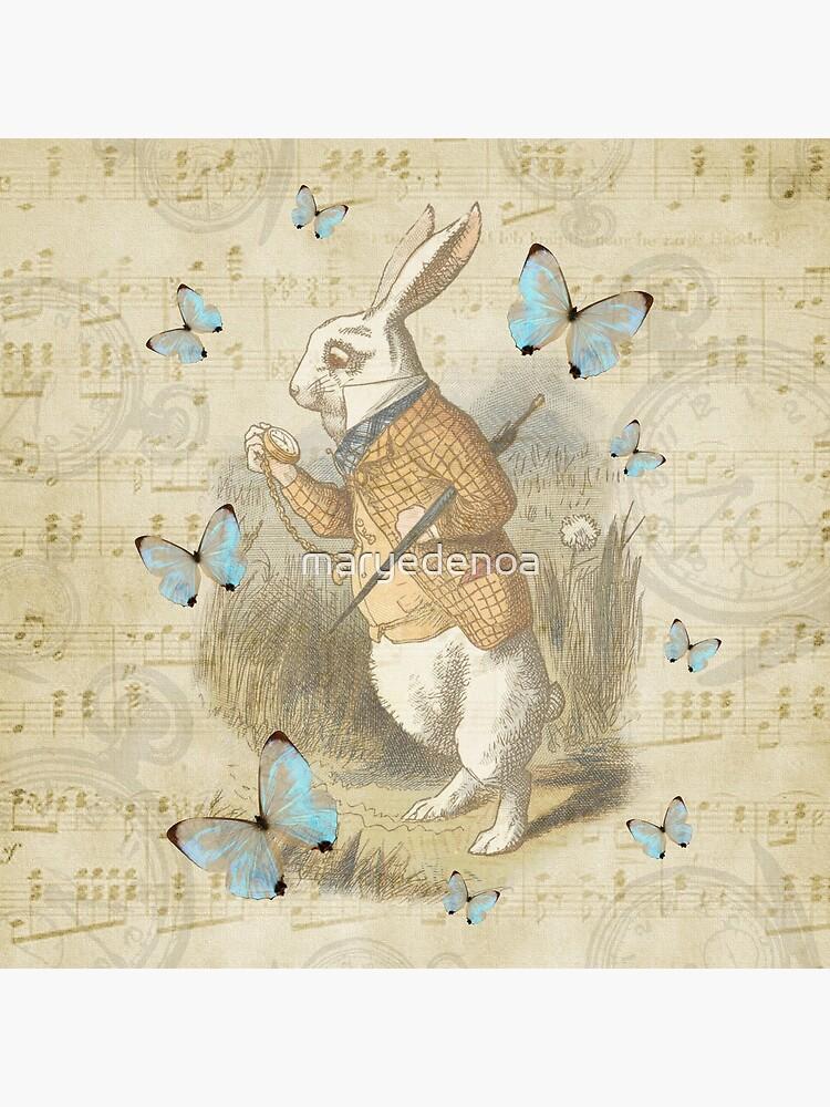White Rabbit - Alice In Wonderland by maryedenoa