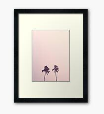 Twin Palms Framed Print