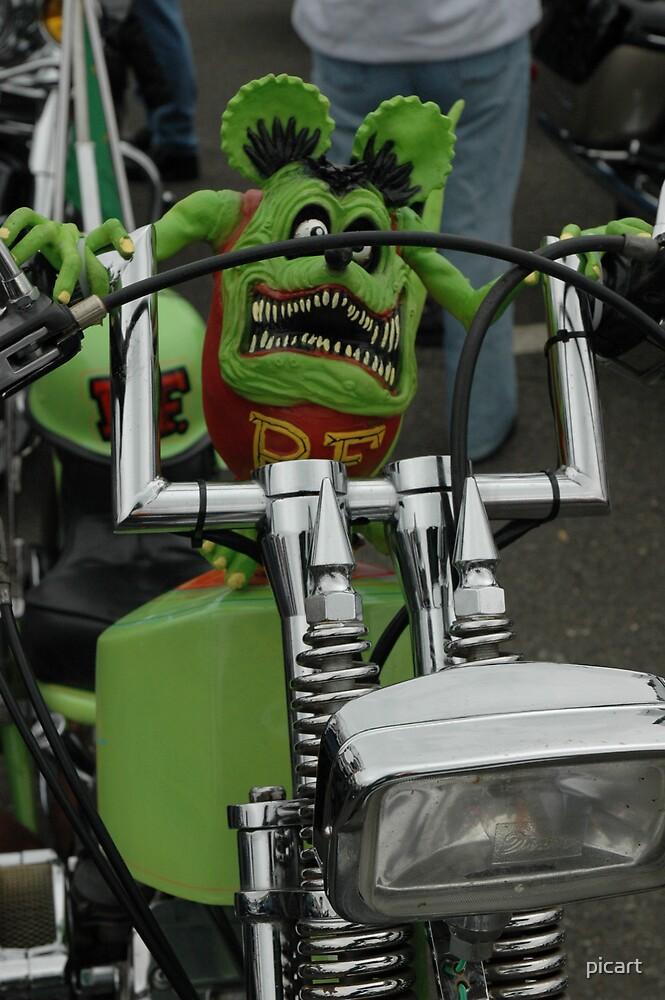 Green Biker by picart