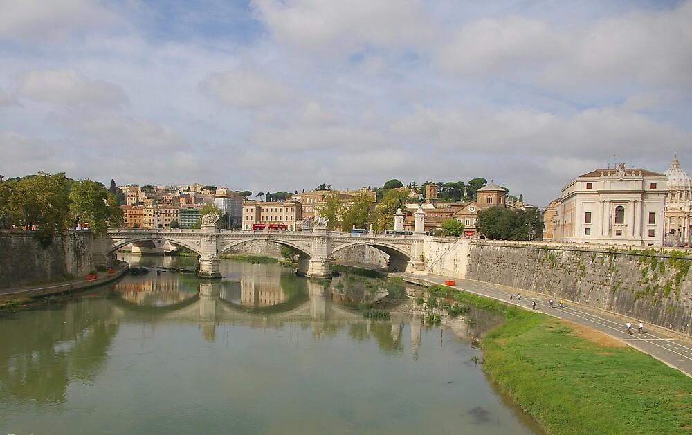 Bridge Across The Tiber River by Tom  Reynen
