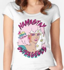Namastay in Bed Outrageous Jem and the Holograms 80's Women's Fitted Scoop T-Shirt