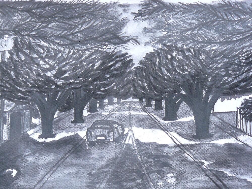 Cowes Main Street by Joan Wild