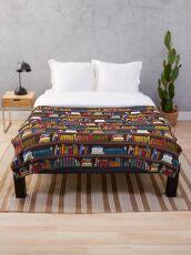 Book pattern Throw Blanket