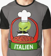 Funny Italian Aliens = Italien  Graphic T-Shirt