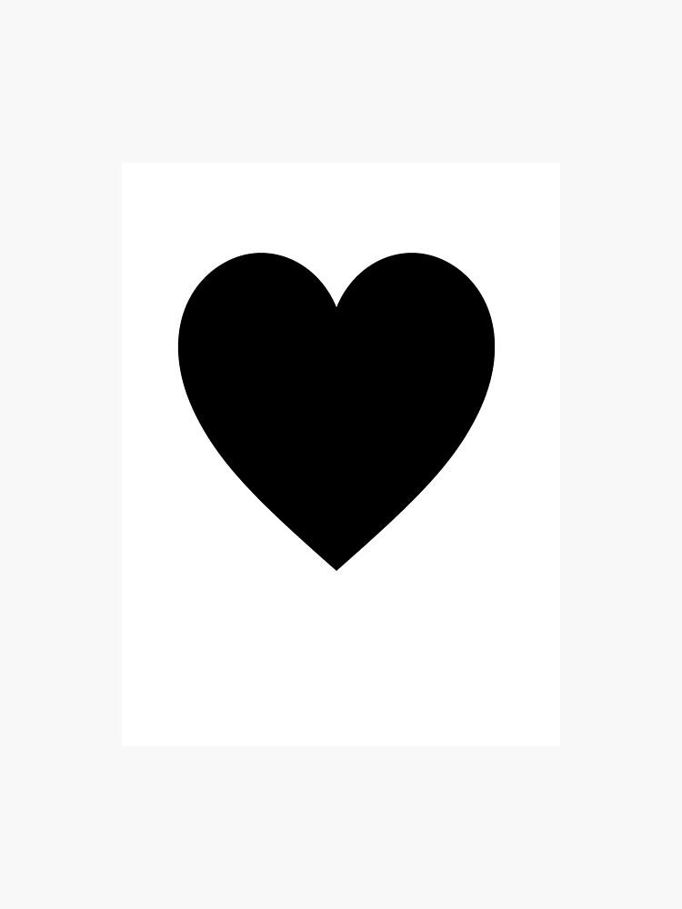 Black Heart, Love Heart, Heart, Treachery, Betrayal, Pure & Simple, on  WHITE   Photographic Print