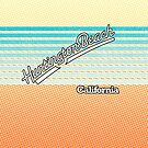 Huntington Beach, California | Surf Stripes by retroready