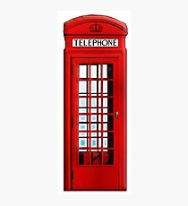 PHONE BOX, Telephone Box, Red, phone, Kiosk, London, England, British, UK Photographic Print
