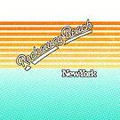 Rockaway Beach, New York   Surf Stripes by retroready
