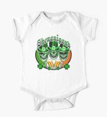 Laughing Irish Leprechaun Skulls: Shenanigans One Piece - Short Sleeve