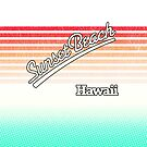 Sunset Beach, Hawaii | Surf Stripes by retroready
