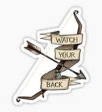 D&D - Ranger - Watch Your Back Sticker