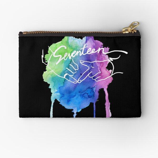 Seventeen Watercolor Zipper Pouch